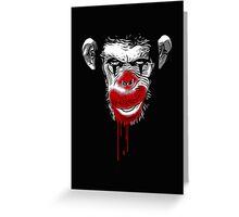 Evil Monkey Clown Greeting Card