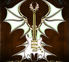 Bat Gothic Guitar by Bluesax
