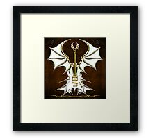 Bat Gothic Guitar Framed Print