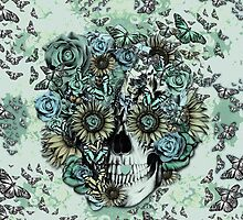 Constant, sunflower skull by KristyPatterson