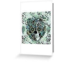 Constant, sunflower skull Greeting Card
