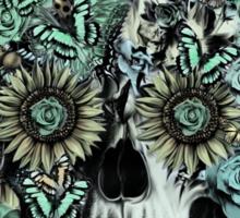 Constant, sunflower skull Sticker