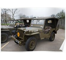 Jeep outside Party in the Blitz in Biggin Hill Poster