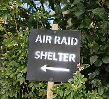 Air Raid Shelter sign by Keith Larby