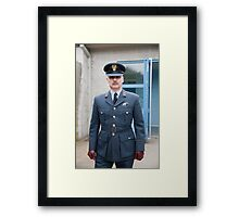 Dressed in uniform for Party at the Blitz  Framed Print