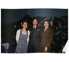 All dressed up in uniform at party at the blitz Poster