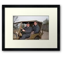 Jeep outside Party in the Blitz in Biggin Hill Framed Print