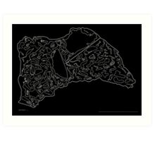 Race Tracks to Scale V2 - Plain Layouts (Inverted) Art Print