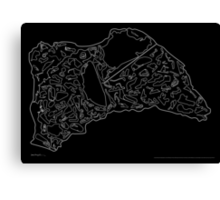 Race Tracks to Scale V2 - Plain Layouts (Inverted) Canvas Print