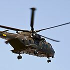 Helicopter from the Danish Air Force. by imagic