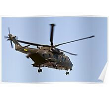 Helicopter from the Danish Air Force. Poster