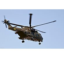 Helicopter from the Danish Air Force. Photographic Print