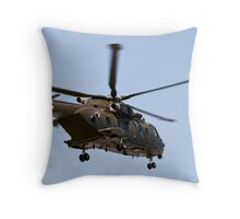 Helicopter from the Danish Air Force. Throw Pillow