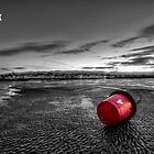 Ryde Sands at Night bw by manateevoyager