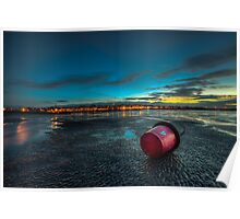 Ryde Sands at Night Poster