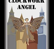 Clockwork Angel Vector Design Cover by cworkybeerowl