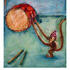 Drum and Monkey by BonniePortraits