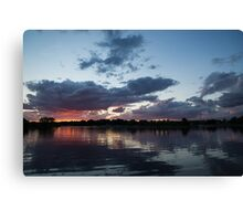 Sunset Afterburner Canvas Print