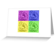 Pokemon Ninetales Pop Art Quad Greeting Card
