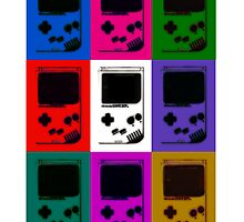 Nintendo Game Boy Classic Pop Art by lostcaptains