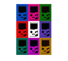 Nintendo Game Boy Classic Pop Art Photographic Print