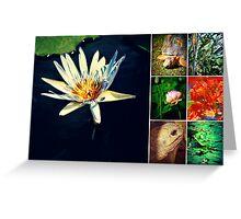 Summer Botanical Collage  Greeting Card