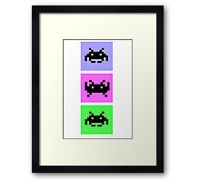 Space Invaders Trio Framed Print