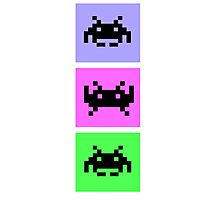 Space Invaders Trio Photographic Print