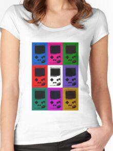 Nintendo Game Boy Classic Pop Art Women's Fitted Scoop T-Shirt