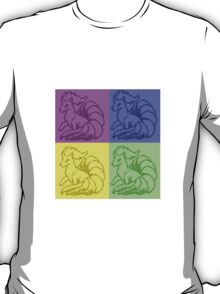 Pokemon Ninetales Pop Art Quad T-Shirt