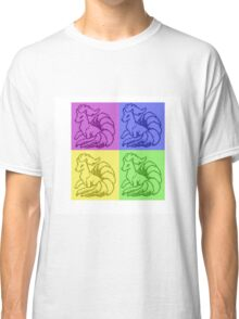 Pokemon Ninetales Pop Art Quad Classic T-Shirt