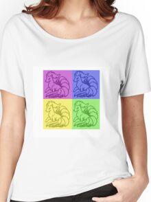 Pokemon Ninetales Pop Art Quad Women's Relaxed Fit T-Shirt