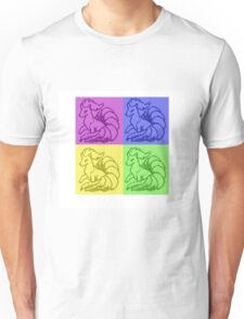 Pokemon Ninetales Pop Art Quad Unisex T-Shirt