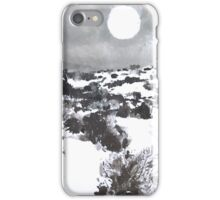 Winter Moon in the High Desert iPhone Case/Skin