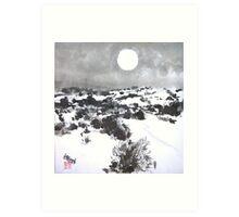 Winter Moon in the High Desert Art Print