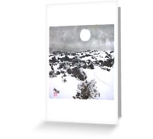 Winter Moon in the High Desert Greeting Card