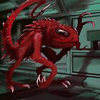 Red Space Monster by starbright