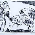 Wolfhound – Drypoint Etching by BonniePortraits