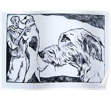 Wolfhound – Drypoint Etching Poster