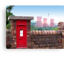 Postbox Nr Ironbridge  Canvas Print