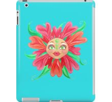 Flower with a Matryoshka Doll Face iPad Case/Skin
