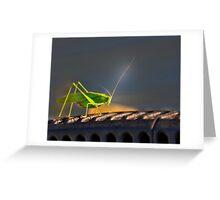 Grasshopper in the spotlight Greeting Card