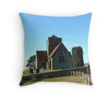 St Martha on the Hill, Near Chilworth, Guildford Throw Pillow