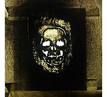 Graff Skull Photographic Print