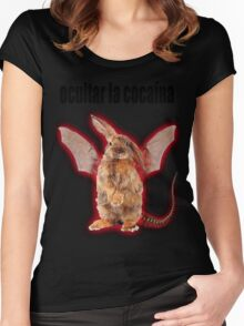 evil rabbit Women's Fitted Scoop T-Shirt