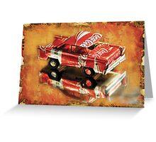 coca cola car Greeting Card