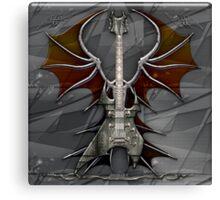 Death Metal Guitar Canvas Print