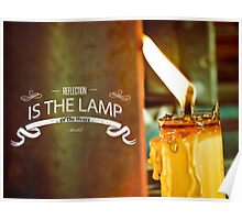 Reflection Is The Lamp Of The Heart  Poster