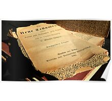 New Testament - German 1896 Poster