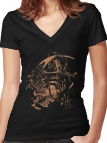 Reaper Out West Women's Fitted V-Neck T-Shirt